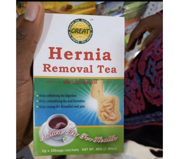 Hernia removal tea