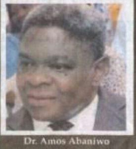 Dr Amos Abaniwo
